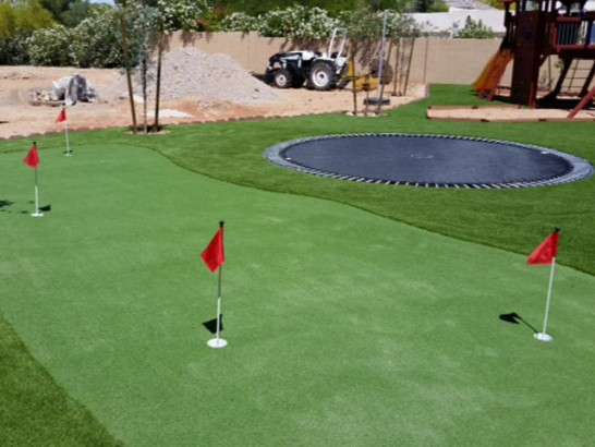 Artificial Turf Installation Tustin, California Office Putting Green, Backyard Makeover artificial grass